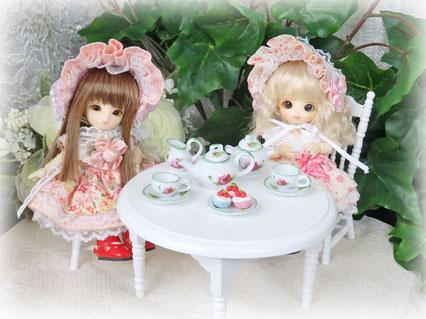 画像3: ミニチュア食器★バラ ティーセット
