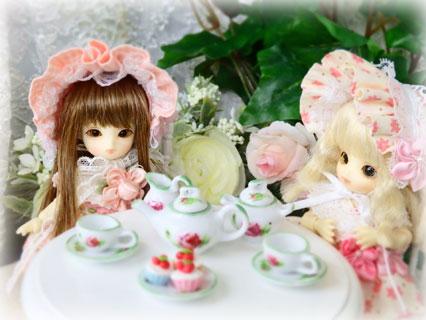 画像2: ミニチュア食器★バラ ティーセット