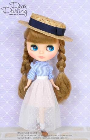画像1: 【ゆうパケット可】Dear Darling fashion for dolls★チュールロングスカート/ホワイト