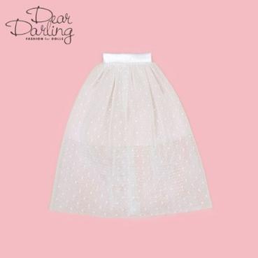 画像2: 【ゆうパケット可】Dear Darling fashion for dolls★チュールロングスカート/ホワイト