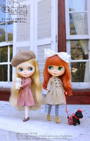 画像5: 【ゆうパケット可】Dear Darling fashion for dolls★フレアトレンチコート/ベージュ
