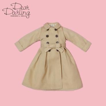 画像2: 【ゆうパケット可】Dear Darling fashion for dolls★フレアトレンチコート/ベージュ