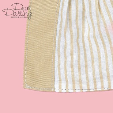 画像4: 【ゆうパケット可】Dear Darling fashion for dolls★フレアトレンチコート/ベージュ