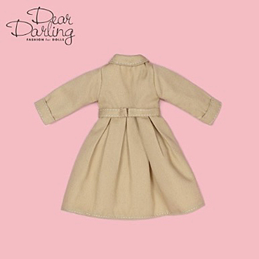 画像3: 【ゆうパケット可】Dear Darling fashion for dolls★フレアトレンチコート/ベージュ